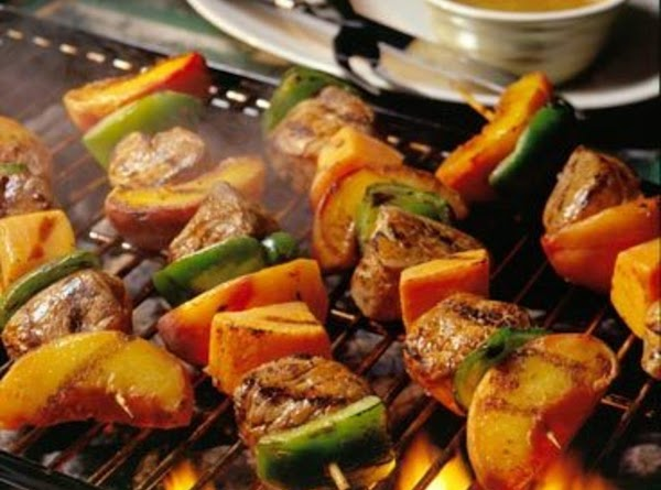 Pork Tenderloin And Fruit Kebabs Recipe