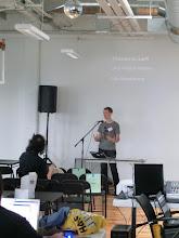 Photo: Owen Williams gave a talk on boodler.