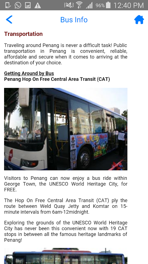 Penang Tourist Info- screenshot
