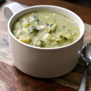 Broccoli Cheddar Potato Soup.