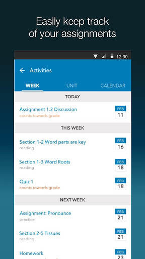 MindTap Mobile Screenshot