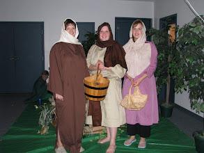 Photo: Fri, Dec 5/08 - some women at the well, Julie Green, Miriam Robichaud, Sheila Palmer