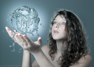 """Photo: The magic of water - we did it! Showing first time, exclusively for G+!  This is a finished look of the beauty shot we had a shoot a week ago. More about this: http://www.akelstudio.com/blog/todays-beauty-shot-online-thank-you-everyone-who-joined-us/ As you see, we have used another image of the model, water ball was created from many splashes in PP.  P.S Now I am wondering where to have it :in """"People"""" or """"Liquid""""? :-) Share if you like it!  What to do next hangout... Any fresh ideas?"""