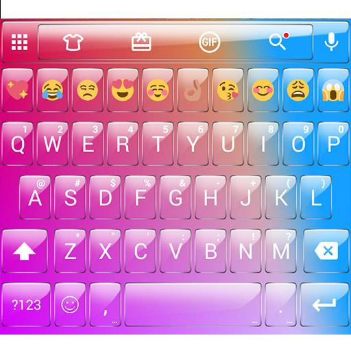 Glass Colorful Emoji Keyboard