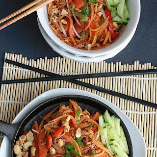 "Pad Thai with Sweet Potato ""Noodles"""