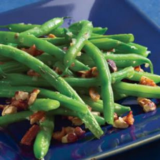 Green Beans with Bacon & Hazelnuts.