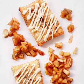 Apple Cinnamon Puff Pastry Pop Tarts with Cream Cheese Frosting.