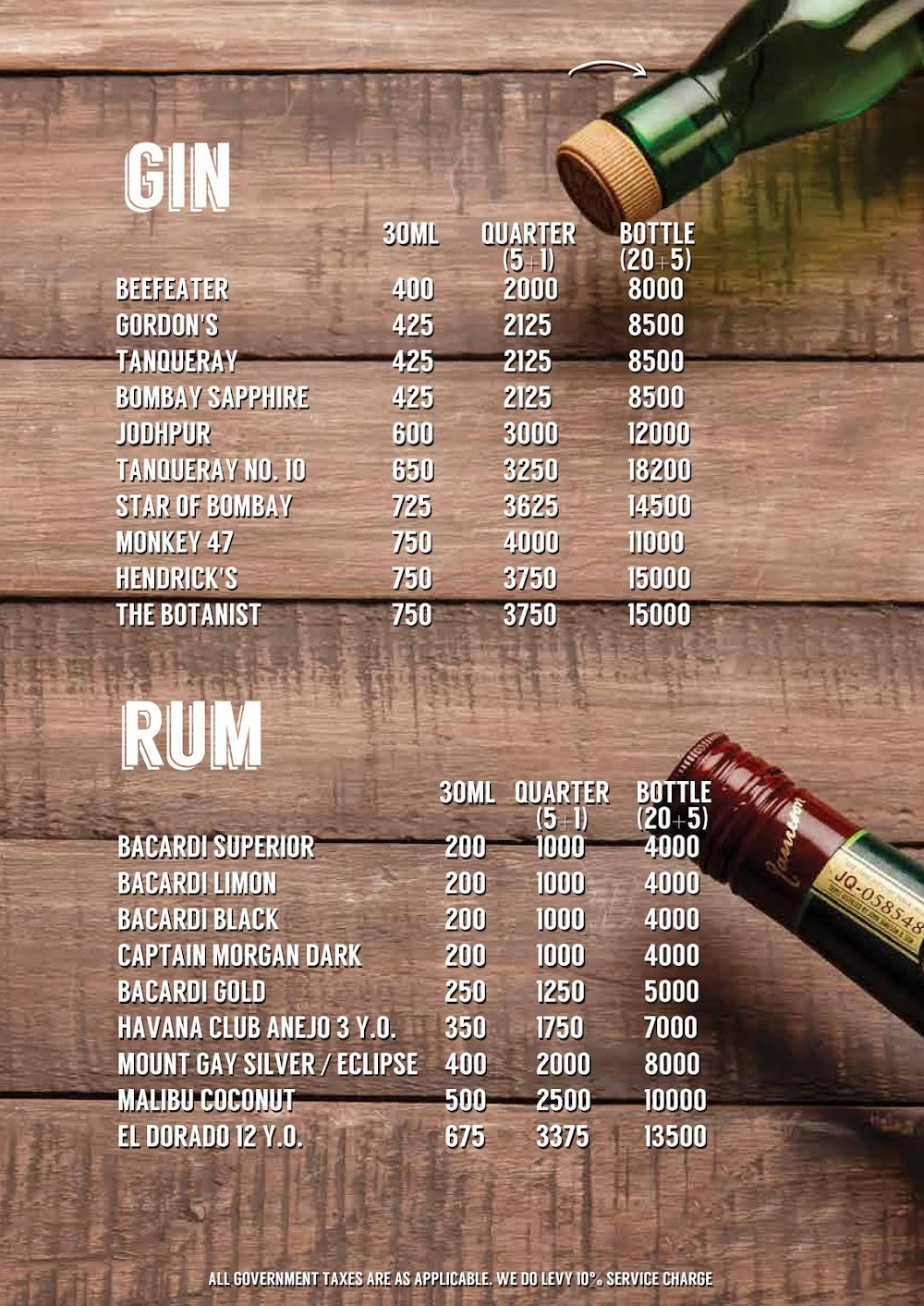 Lord Of The Drinks menu 8