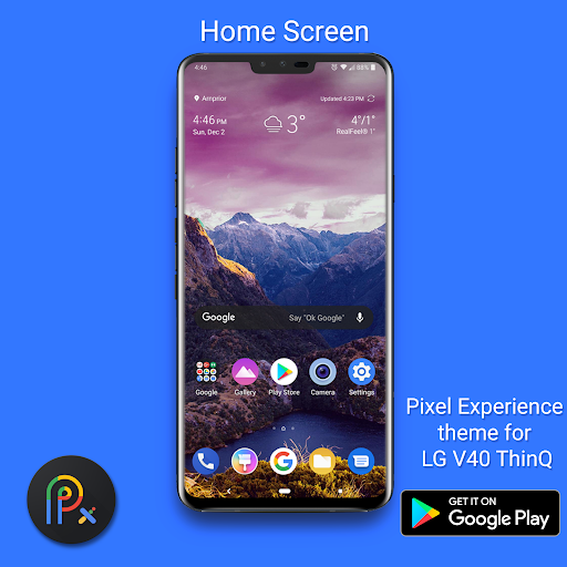 Screenshot for Pixel Experience Dark Theme for LG V40 in United States Play Store