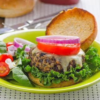 Black Bean Zucchini Burger.