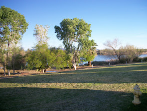 Photo: View from our Dining Area Window  early in the morning (Colorado River)