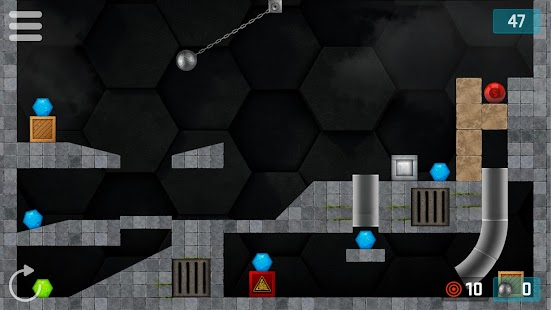 HEXASMASH • Wrecking Ball Physics Puzzle Screenshot