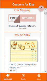Coupons for Etsy - náhled