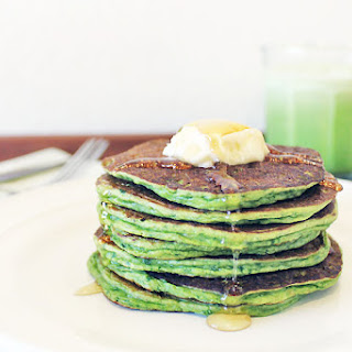 Green Smoothie Pancakes.