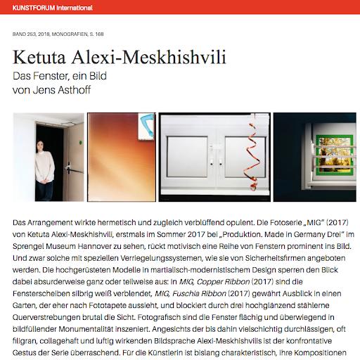 Ketuta Alexi-Meskhishvili Kunstforum