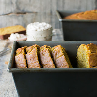 Whole Wheat Pumpkin Bread with Maple Cinnamon Cream Cheese Recipe