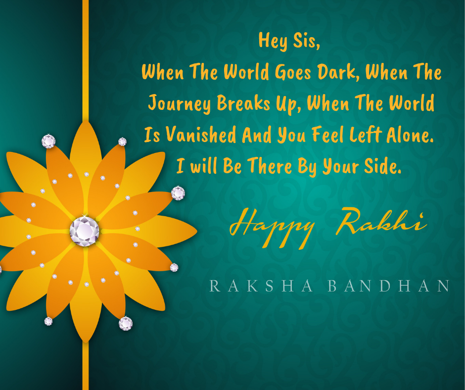 rakhi wishes for sister