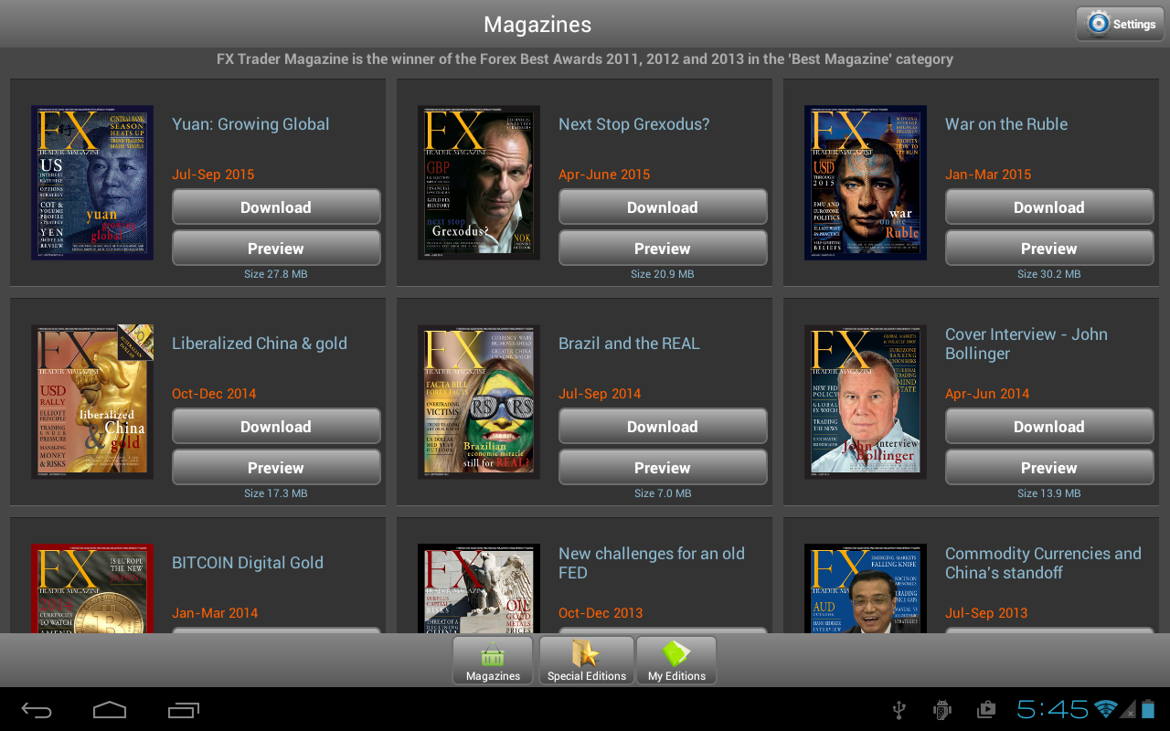 fx trader magazine screenshot - Best Currency Trader