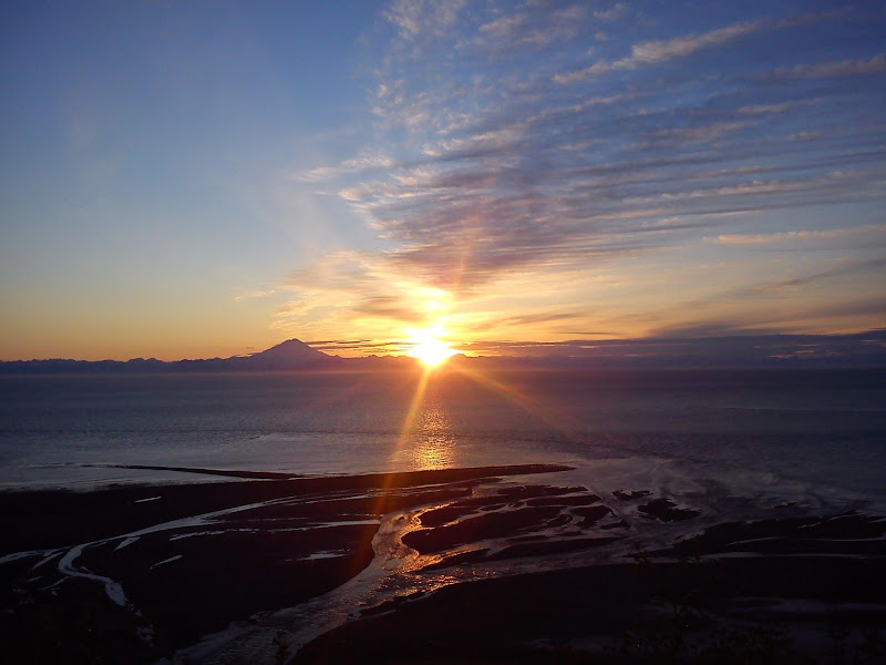 Photo: AccuFan Weather Photo of the Day: Summer Sunset overlooking the waters of Cook Inlet on June 8, 2012 in Alaska by Alex Cortez. http://ow.ly/bwWX6