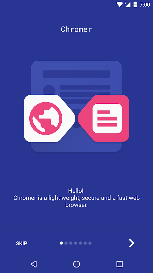 Chromer - Browser- screenshot