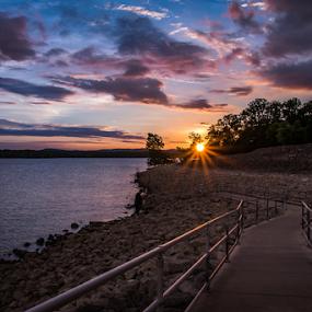 Sunset over the lake by Rick Touhey - Landscapes Sunsets & Sunrises ( water, missouri, sky, sunset, table rock lake, lake,  )