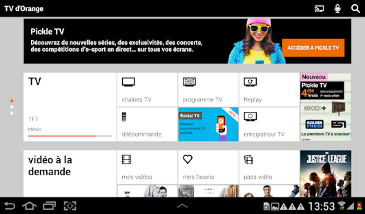 TV d'Orange, live-replay-vod Capture d'écran