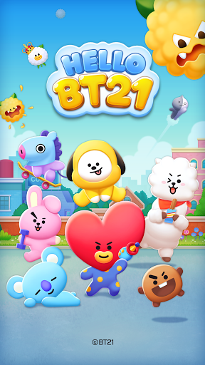 LINE HELLO BT21- Cute bubble-shooting puzzle game! 2.0.1 screenshots 8
