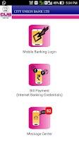 Screenshot of CUB Mobile Banking