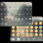 Rain Drops Flat iKeyboardTheme Icon