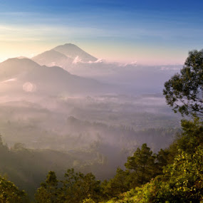 Batur, Abang, Agung by Agus Mahaputra - Landscapes Mountains & Hills