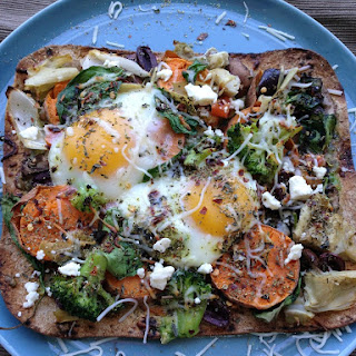 Veggie Sweet Potato Avocado Breakfast Pizza