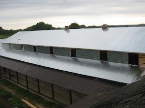 Photo: одна половина крыши готова