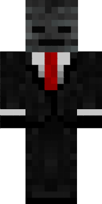 A wither skeleton in a suit