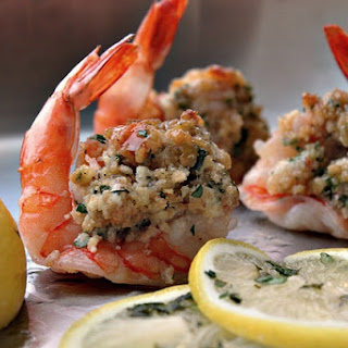 Lighter Baked Stuffed Shrimp