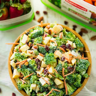 Healthy Broccoli Apple Salad.