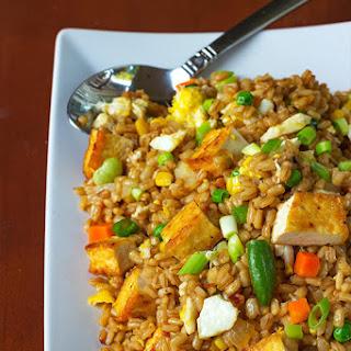 Easy Tofu Barley Fried Rice