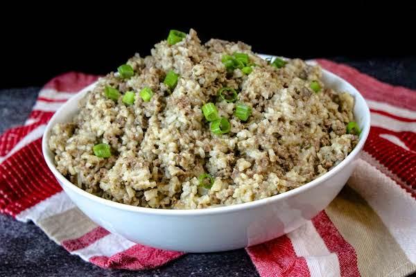 A Bowl Of Maw-maw's True Louisiana Cajun Dirty Rice.
