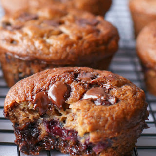 Banana and Blueberry Chocolate Chip Muffins Recipe