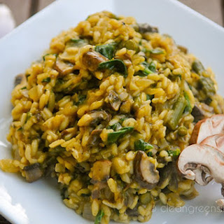 Mushroom and Asparagus Risotto [Vegan] Recipe