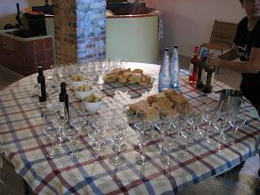 Photo: The olive oil tasting.