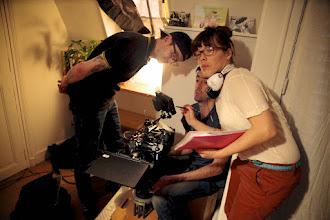 Photo: En compagnie de la réalisatrice Stéphanie Varela et du premier assistant opérateur Cornieres Yann