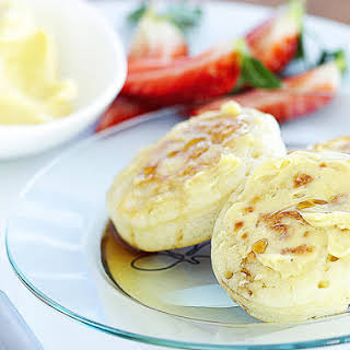 Crumpets with Whipped Maple Butter.