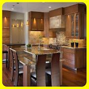 kitchen set wood shades