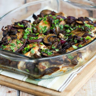 Roasted Chicken Thighs with Mushrooms, Onions, and Rosemary Recipe