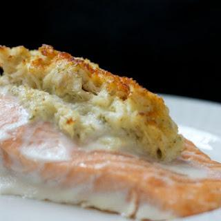 Crab-Stuffed Salmon.