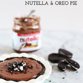 No Bake Nutella and Oreo Pie