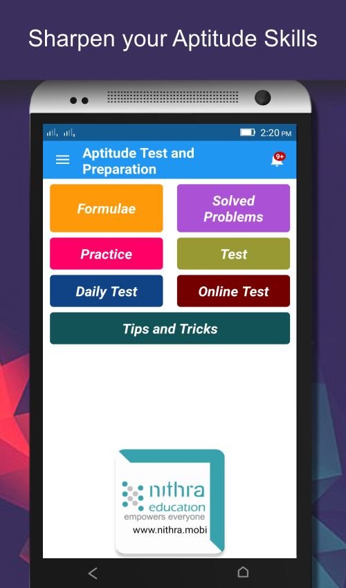 Aptitude Test and Preparation- screenshot