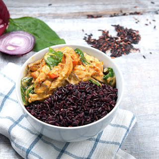 Indian Chicken Curry With Sweet Potato & Black Wild Rice.