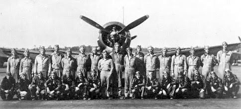 Photo: Tom McMaster, Senior Officer for Chase Field 1945 (7th from right in back row)  The Commanding officer was stationed at and lived in Corpus Christi