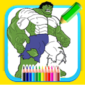 Coloring book for super hero